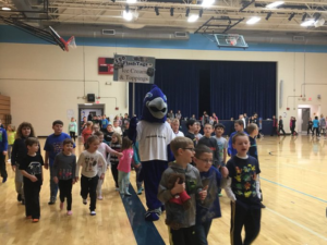 Flash Mascot with Students