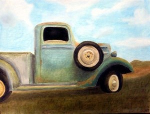 Painting of 1930's Farm Truck